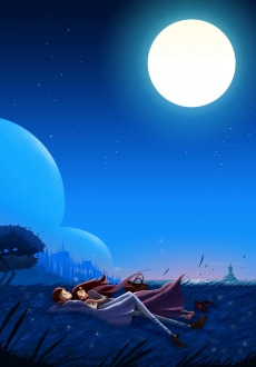 Couple resting in the shine of moonlight .jpg