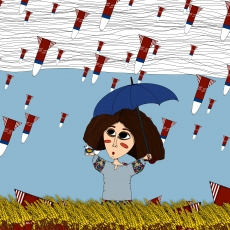 The girl is protected by an umbrella.jpg