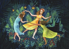 Fairies dancing in the deep forest.jpg