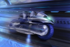 """""""Rideroid"""", a humanoid integrated with a high-performance motorcycle hurtling on a highway..jpg"""