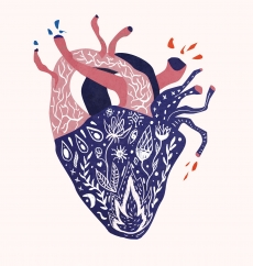 Abstrakt heart with pattern and flowers.jpg