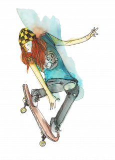 Skater making ollie.png