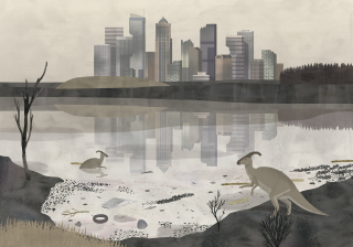 Poluted lake next to industrial complex with cangaroo.png