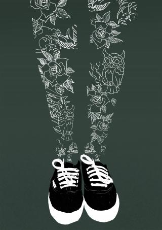 Inked legs