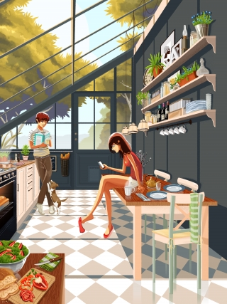 Afternoon relax in the kitchen.jpg