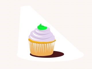 GIFT Minty flavoured raspberry cupcake for you.jpg