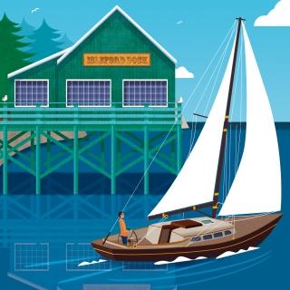 Isleford dock yacht