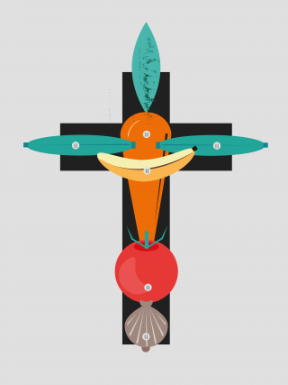 Vegetable cross