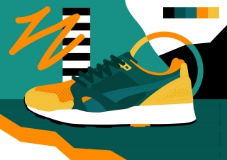 Puma sneaker illustration