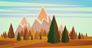 Beautiful pine trees on mountains.jpg