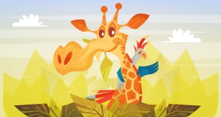 Giraffe and company