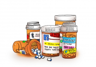 Social media addiction medication