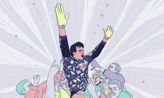 Man celebrating