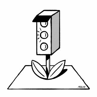 Traffic Plant — A growing traffic light with leaves .png