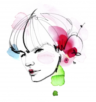 Asian girl with cherry petals in her hair.jpg