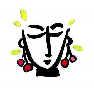 Girl wearing cherry earrings.jpg