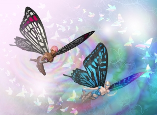 Two nymphs with butterfly wings flying in the air..jpg