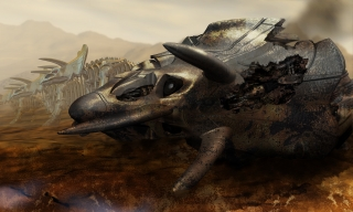 Destroyed Triceratops