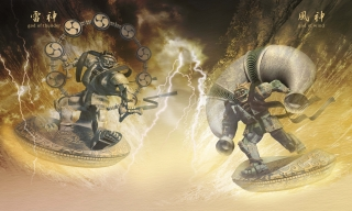 """Droids made as the legendary """"Fujin"""", a god of wind, and """"Raijin, a god of thunder..jpg"""