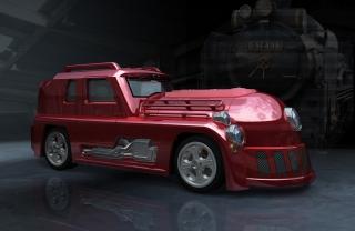 A high-power muscle car that looks like a locomotive..jpg