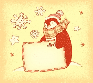 Penguin with empty card in winter.jpg