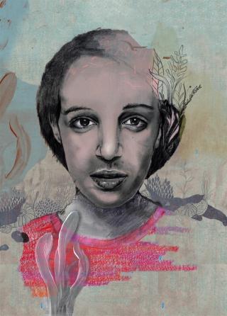 """Benita"", portrait, woman with plants.jpg"