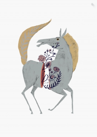 Horse with flowers out of it´s torso.jpg