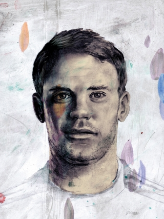 Portrait of the soccer player Manuel Neuer from Bayern München