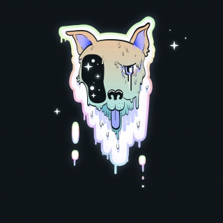 Doggy dog melting in space