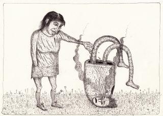 Broken robot with the girl..jpg