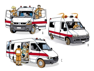 Ambulances and paramedical volunteers.jpg