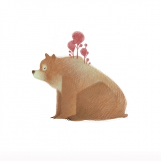 Bear with trees on the back.jpg