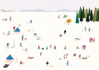 The people of Northern countries enjoy ice fishing and sledding on the ice  at holiday seasons
