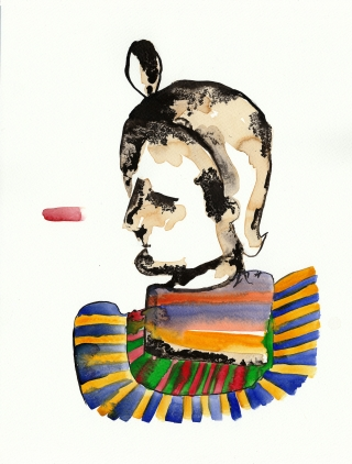 man dressed as a colourful pharoah.jpg