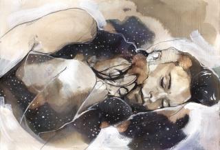 Sleeping couple in love .jpg