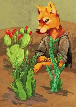 Wolf and his cacti.png