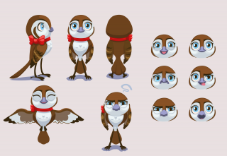 Sparrow character sheet.