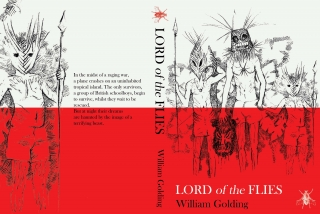 Lord-of-the-Flies-by-William-Golding-illustrated-by-Sally-Barnett-Illustrator-book-cover-design-created for BA project