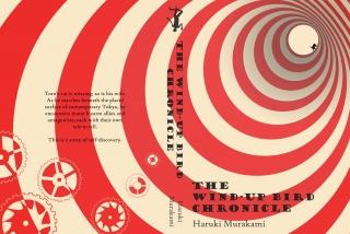 The-Wind-Up-Bird-Chronicle-by Haruki-Murakami, book cover design-by-Sally-Barnett-Illustrator. A BA project.