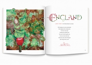 Goblins, inspired by a poem by Christina Rossetti. Illustrations by Sally-Barnett. A BA project for a fictitious book about fairytales around the world.