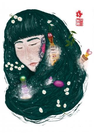 Hair parfume woman with parfums in her hair.jpg