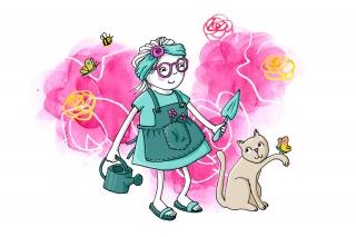 Little girl gardening .jpg