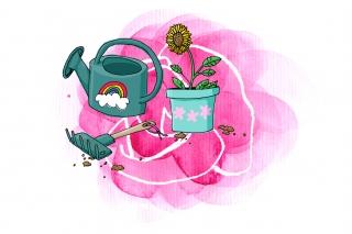 Flower planting set