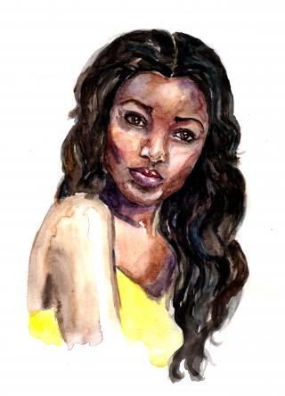 Pretty afro-american girl poses .jpg