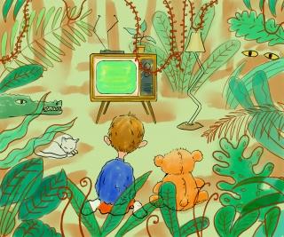 Jungle living room