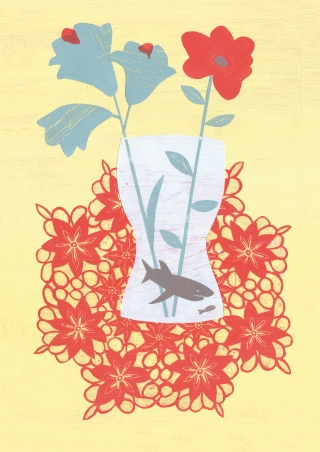 A shark in a flower vase.jpg