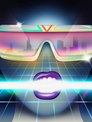 Women face in sunglasses in neon lights.jpg