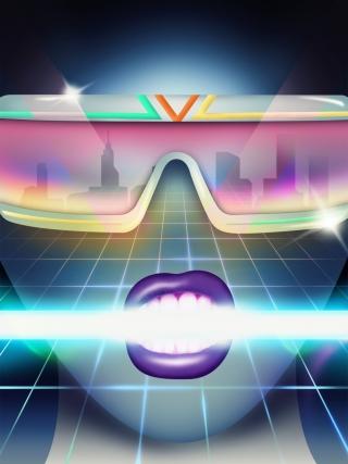 Women face in sunglasses in neon lights.jpg