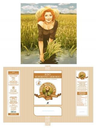 "Red hair girl gathering rice (a ""mondina"") for Italian rice packaging.jpg"