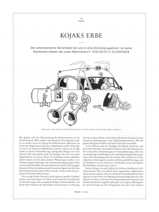 Editorial Illustration for NZZ Folio magazine (Sirens, ambulance, carillon).jpg